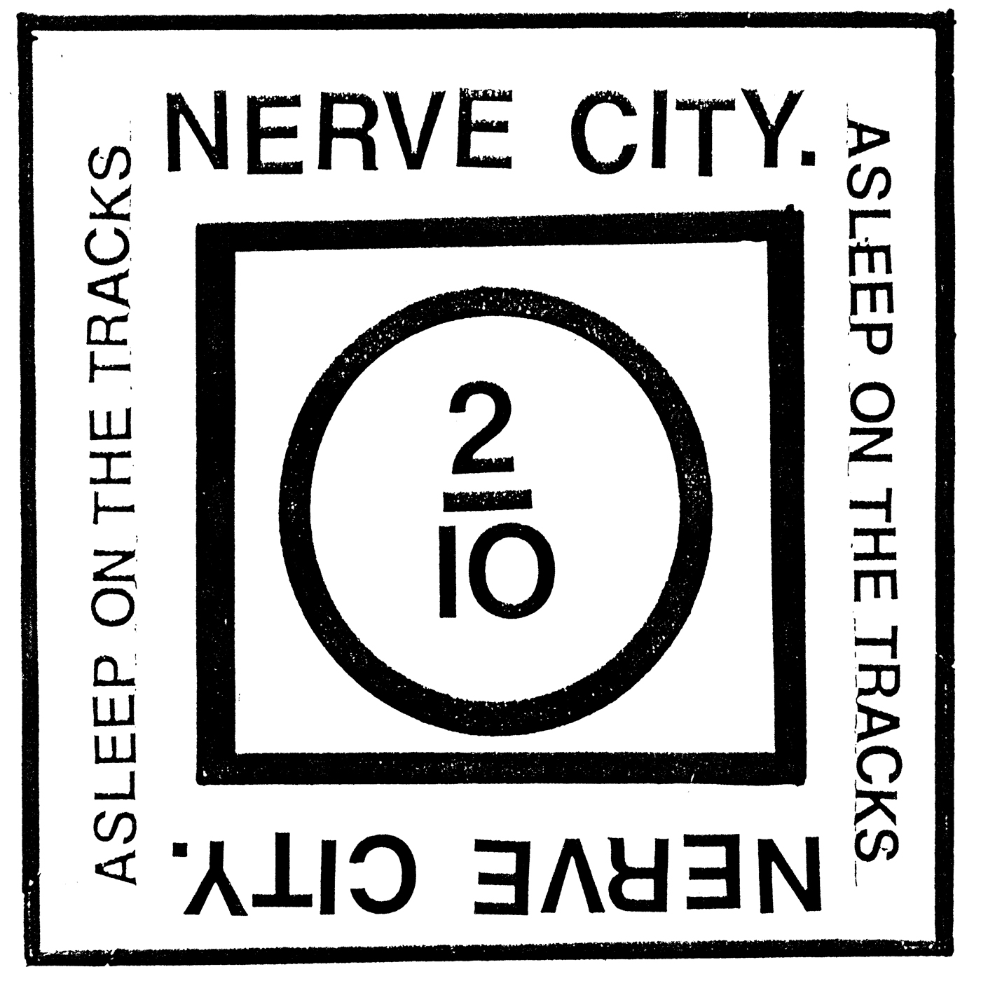 Nerve-City---Asleep-On-The-Tracks---cover